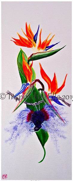 Tropical Collection - Bird of Paradise Oil Painting - Inspired By Elle flower art Elle Smith