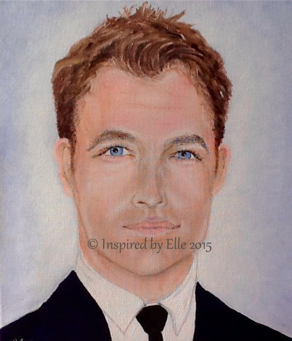 Celebrity Inspired Blue Eyes Male Portrait Painting Those Eyes Elle Smith