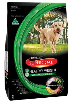 Supercoat Adult Dog Healthy Weight Dry Food - Real Meat