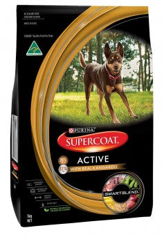 Supercoat Adult Dog Active Dry Food - Real Kangaroo