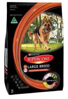 Supercoat Adult Dog Large Breed Dry Food - Real Meat