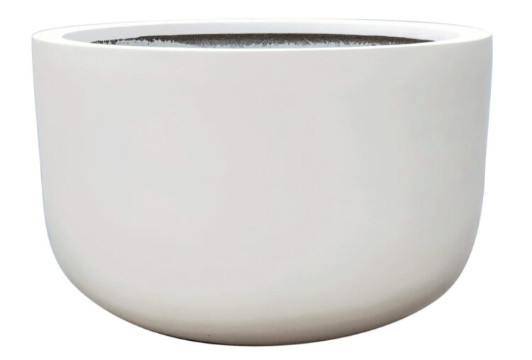 Contemporary Pot - Basin Pot - White