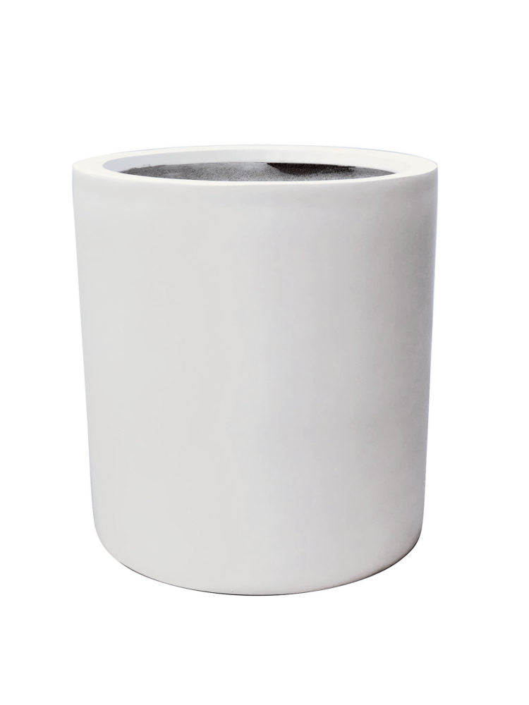 Contemporary Pot - Cylinder Pot - White