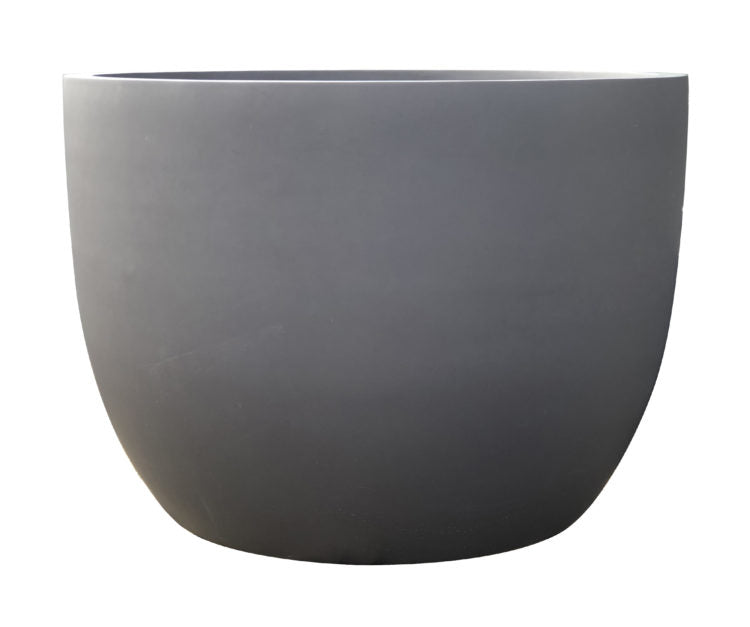 Contemporary Pot - Phat Egg Pot - Grey