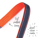 Clearance - Kazoo - Active Adjustable Collar - Slate & Orange