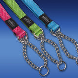 Rogz Obedience Half-Check Collar Utility with Reflective Stitching - Lime - Various Sizes