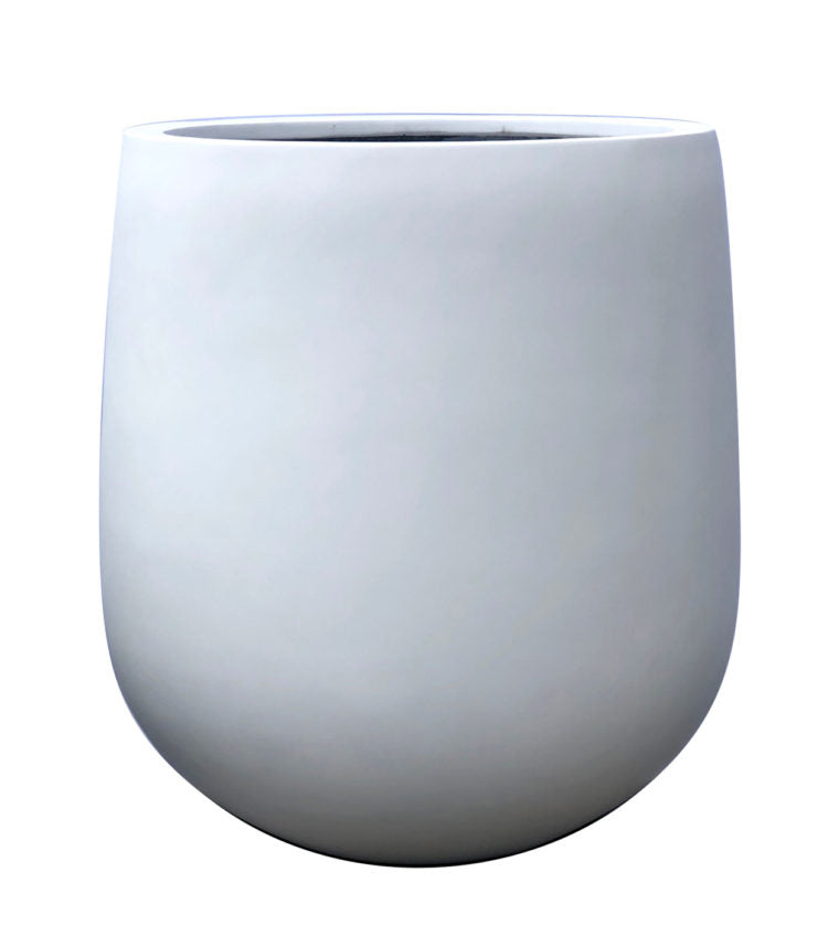 Contemporary Pot - Pear Pot - White