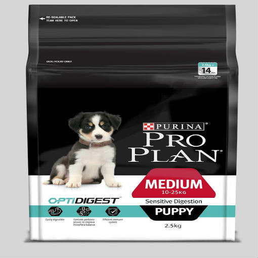 Pro Plan Puppy Dry Food - Medium Breed Puppy with OptiDigest - Lamb & Rice