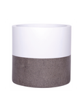 Hand Painted Pot - Cylinder Pot - White Top