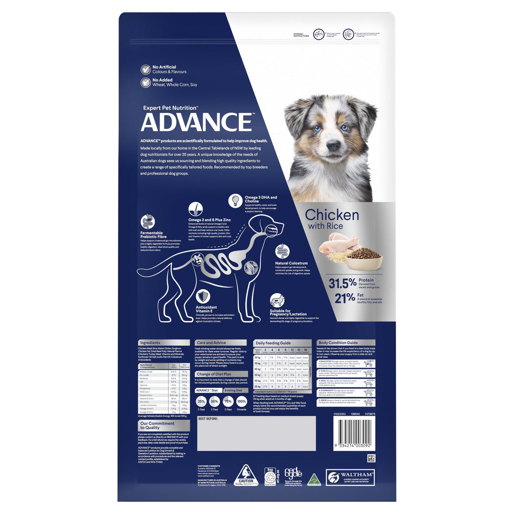 Advance Puppy Plus Growth All Breed Dry Food - Chicken