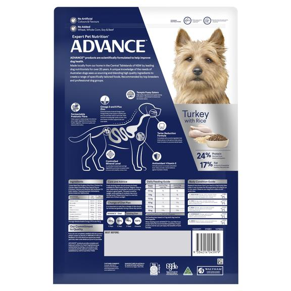 Advance Adult Dog Total Wellbeing Toy Small Breed Dry Food - Turkey & Rice