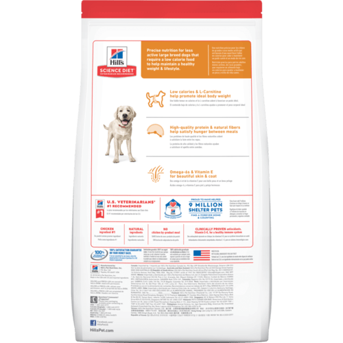 Hills Science Diet Adult Dog Dry Food - Large Breed Light