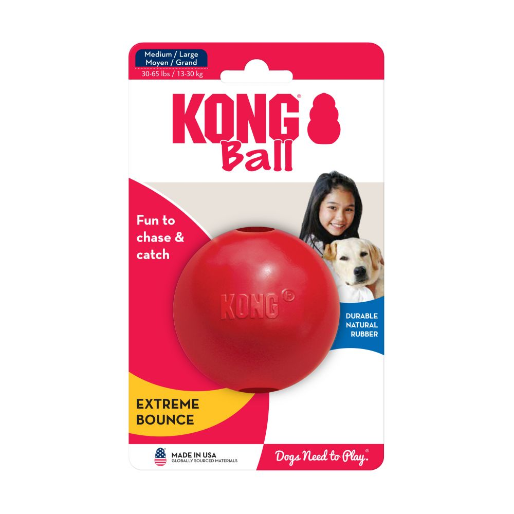 KONG CLASSIC RED RUBBER BALL