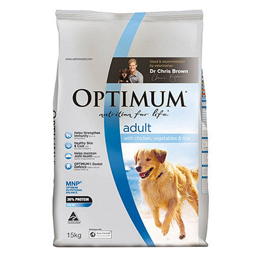 Optimum Adult Dog Dry Food - Chicken, Vegetable & Rice