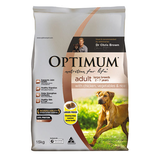 Optimum Adult Dog Large Breed Dry Food - Chicken, Vegetable & Rice