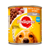 Pedigree Wet Dog Food Cans (5 meats)