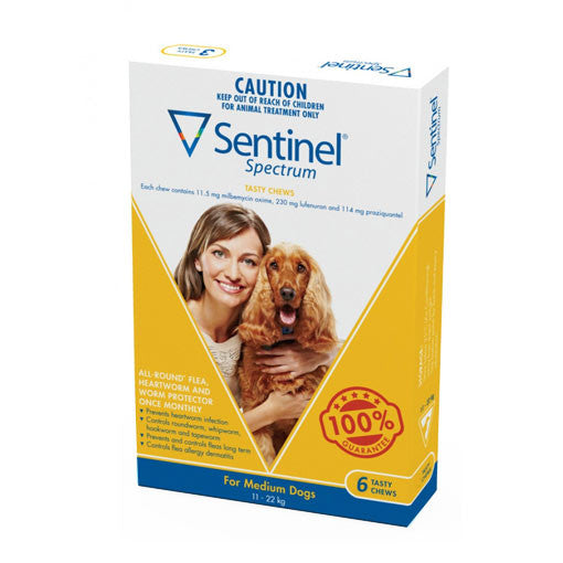 Sentinel Spectrum - Tasty Chew Parasite Treatment For Medium Dogs
