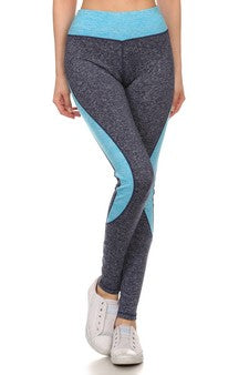 Blue Seamless Performance Full Length Leggings