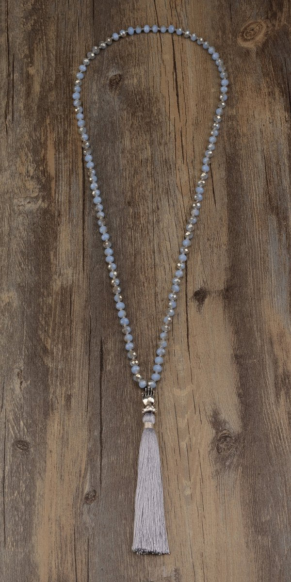 Light Blue Crsytal Mala