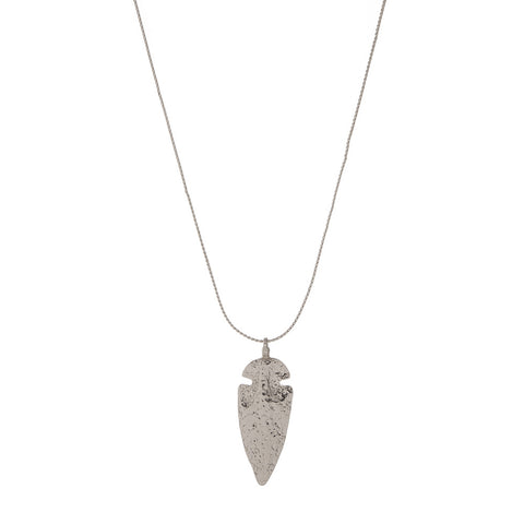 Arrowhead silver tone necklace