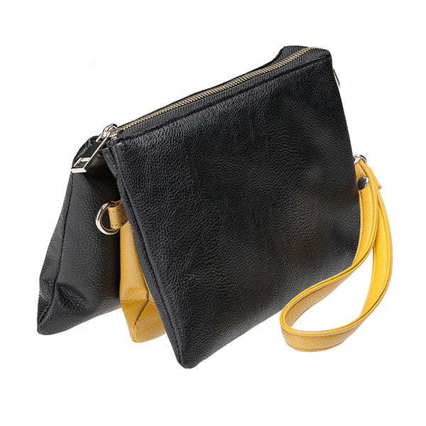 Purse-Clutch Black/Yellow