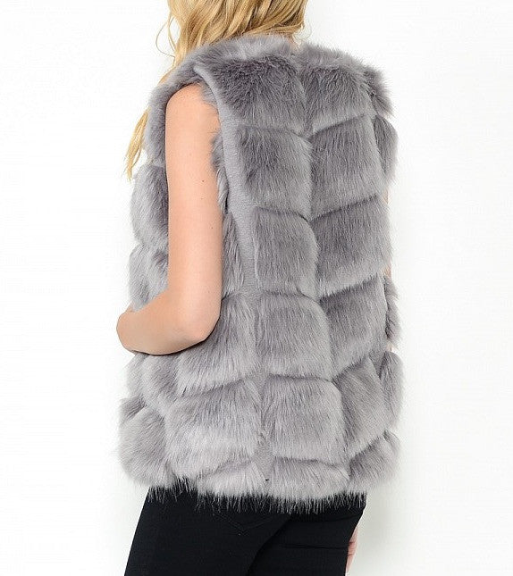 Sleeveless Fur Vest- Only 1 remains