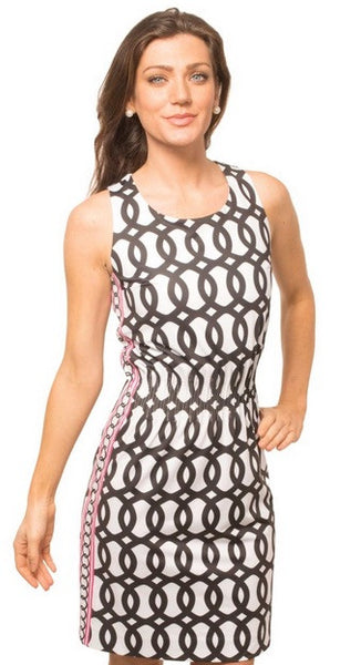 Geo Cinch Jersey Dress CLEARANCE