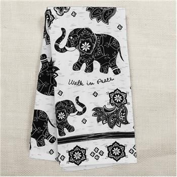 Peaceful Elephant Tea Towel
