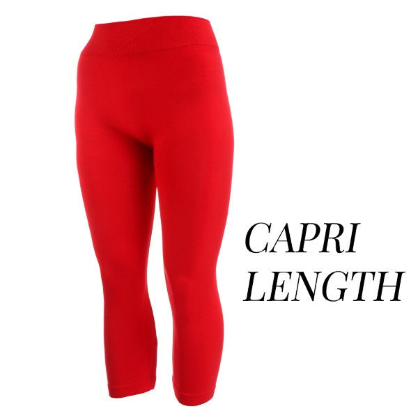 Leggings-Red Capri