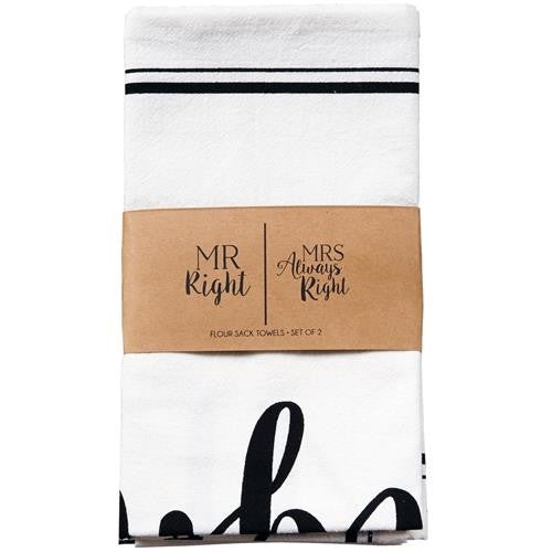 Mr. & Mrs. Right Towel Set