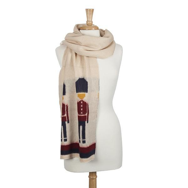 Scarf- Cream Nutcracker