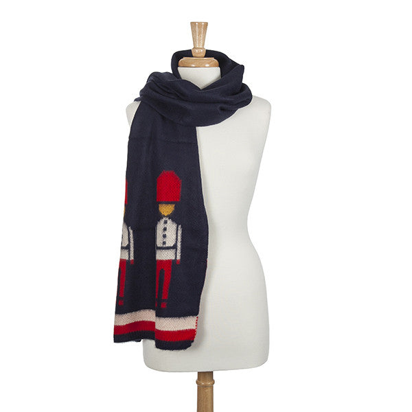 Scarf- Navy Nutcracker