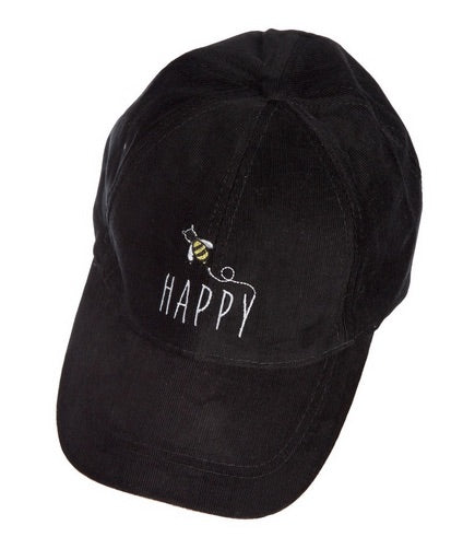 Bee Happy Corduroy Hat