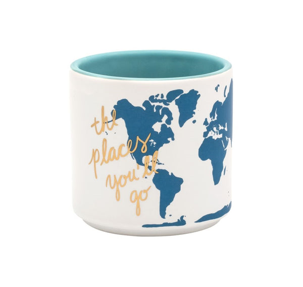 The Places you'll Go Map Planter