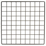 "Mini Black Grid Panel 14"" W x 14"" H 1.5"" Squares Grid Panel Vinyl Dipped Black - ExecuSystems"