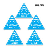 PPE FLOOR DECAL - ONE WAY AISLE - PACK OF 5 - ExecuSystems