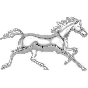 Sterling Silver Trotting Horse Pendant