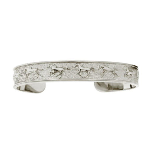 Kabana Horse Sterling Silver Galloping Horses Cuff Bracelet
