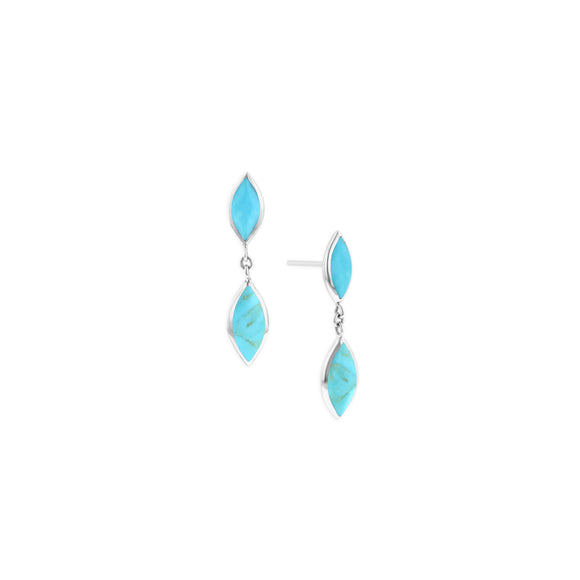 Kabana Sterling Silver Turquoise Dangle Earrings