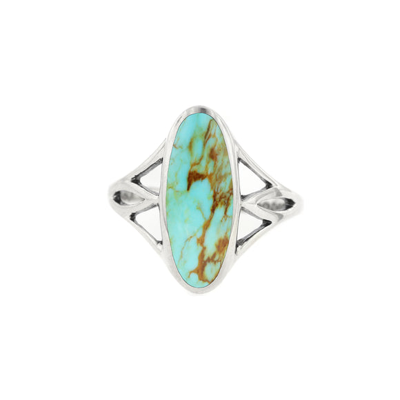 Kabana Sterling Silver Turquoise Oval Ring