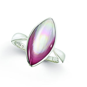 Sterling Silver Kabana Pink Mother of Pearl Ring