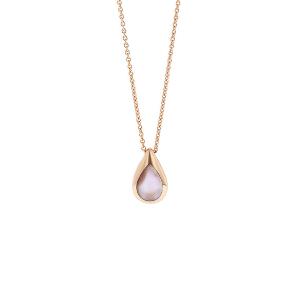 14k Rose Gold Kabana Pink Mother of Pearl Necklace