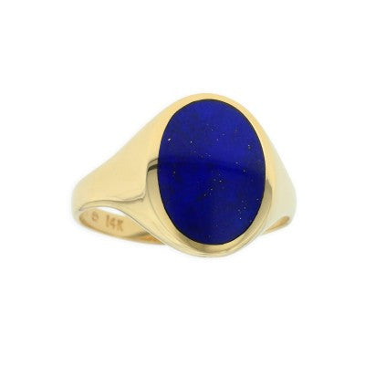 Kabana 14K Yellow Gold Lapis Ring