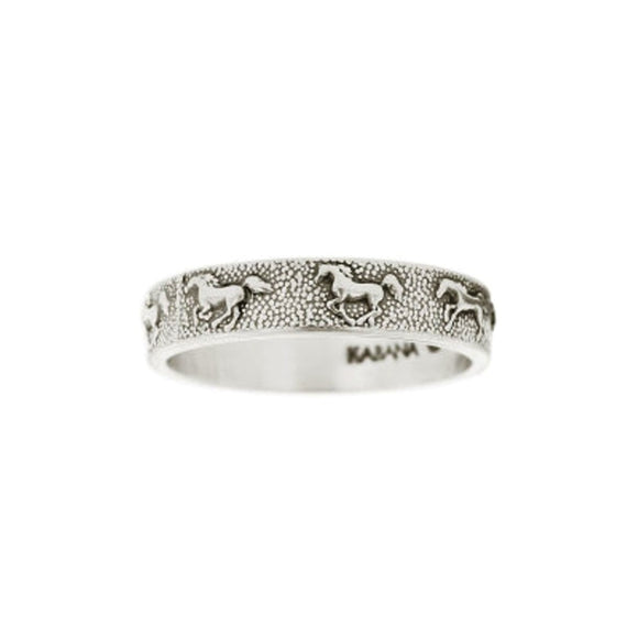 Kabana Sterling Silver Running Horse Ring