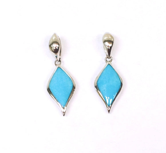 Sterling Silver Kabana Turquoise Earrings