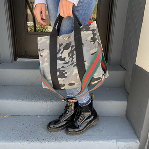 Camo Print Canvas Bag