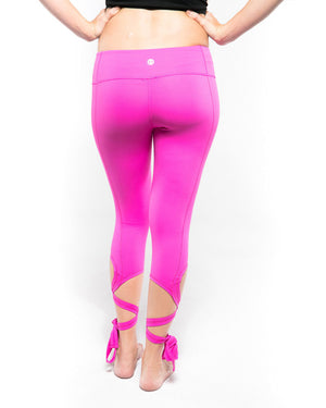 Avery Pink Ankle-Tie Legging - Breast Cancer Awareness