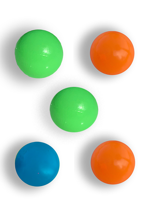 3 Glow In The Dark Squishy Sticky TikTok Balls