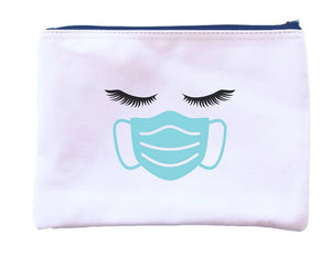 Lashes and Masks Zipper Pouch
