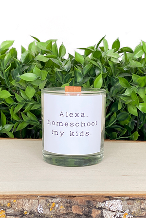 Alexa Homeschool My Kids Treasure Candle